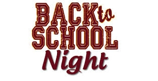 Back to School Night ~ Monday, August 19