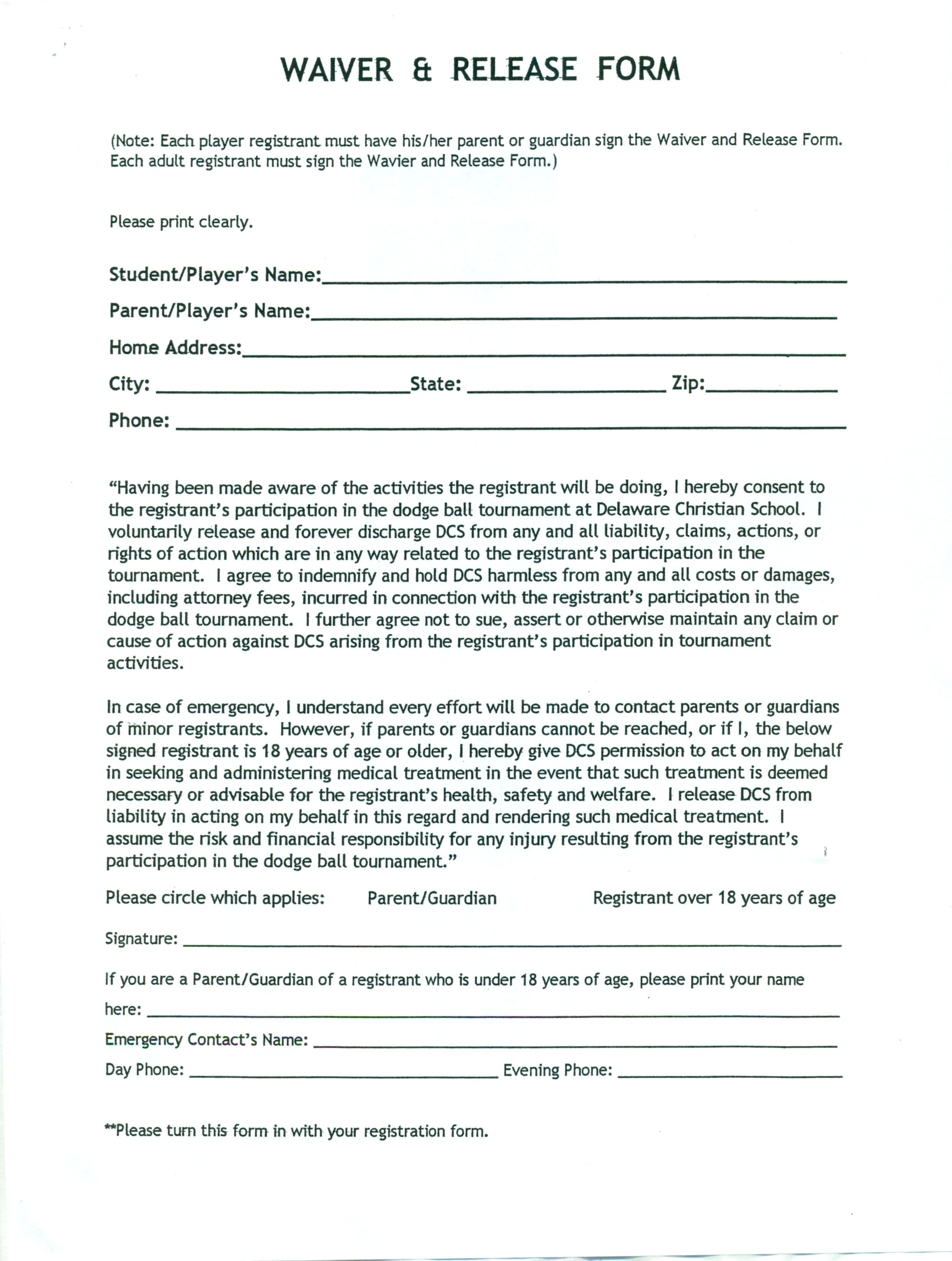 Photos Of Insurance Liability Waiver Template